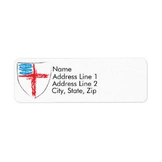 Episcopal Shield Return Address Label