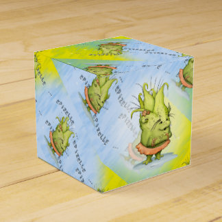 EPIZELLE ALIEN CARTOON Tent with Ribbon ClassicBox Wedding Favor Boxes