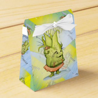 EPIZELLE ALIEN CARTOON Tent with Ribbon Favor Box
