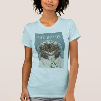 Épousant, jeune mariée drôle de CAT Tee-shirt