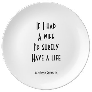 Épouse Assiette En Porcelaine