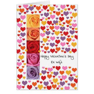 Épouse ex colorée Saint-Valentin Carte De Vœux