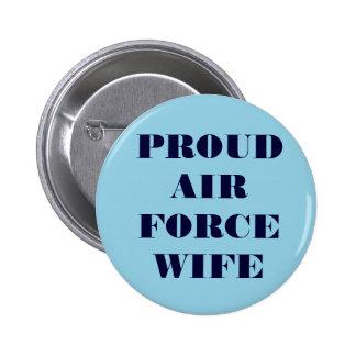 Épouse fière de l Armée de l Air de bouton Pin's Avec Agrafe