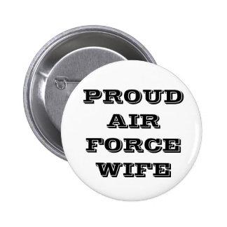 Épouse fière de l Armée de l Air de bouton Pin's