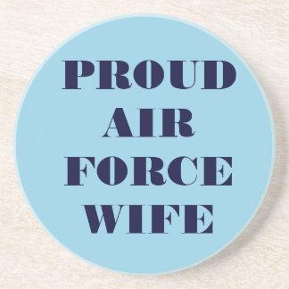 Épouse fière de l Armée de l Air de caboteur Dessous De Verre