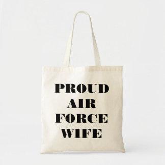 Épouse fière de l Armée de l Air de sac à main