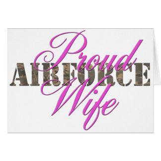 épouse fière de l'Armée de l'Air Cartes De Vœux