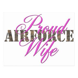 épouse fière de l'Armée de l'Air Cartes Postales