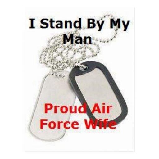 Épouse fière de l'Armée de l'Air Carte Postale