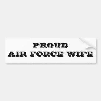 Épouse fière de l'Armée de l'Air d'adhésif pour pa Adhésifs Pour Voiture