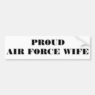 Épouse fière de l'Armée de l'Air d'adhésif pour pa Adhésif Pour Voiture