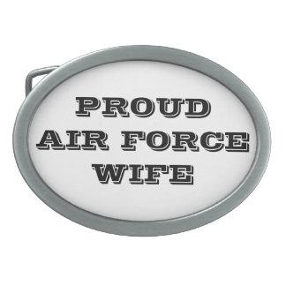 Épouse fière de l'Armée de l'Air de boucle de Boucles De Ceinture Ovales