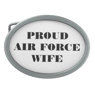 Épouse fière de l'Armée de l'Air de boucle de Boucle De Ceinture Ovale