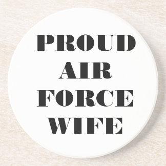Épouse fière de l'Armée de l'Air de caboteur Dessous De Verres