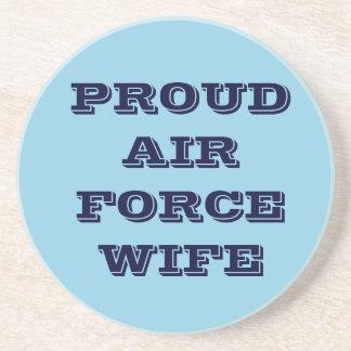 Épouse fière de l'Armée de l'Air de caboteur Dessous De Verre