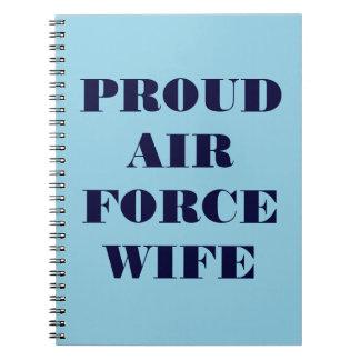 Épouse fière de l'Armée de l'Air de carnet
