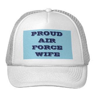 Épouse fière de l'Armée de l'Air de chapeau Casquettes De Camionneur