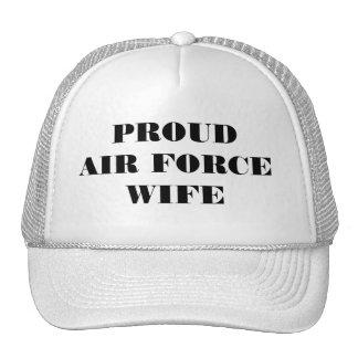 Épouse fière de l'Armée de l'Air de chapeau Casquette De Camionneur