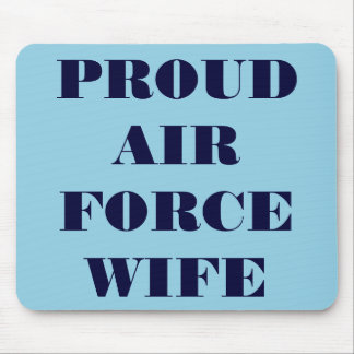 Épouse fière de l'Armée de l'Air de Mousepad Tapis De Souris