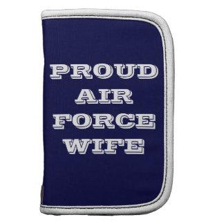 Épouse fière de l'Armée de l'Air de planificateur Organiseur