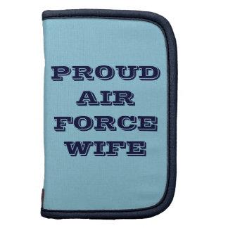 Épouse fière de l'Armée de l'Air de planificateur Agenda