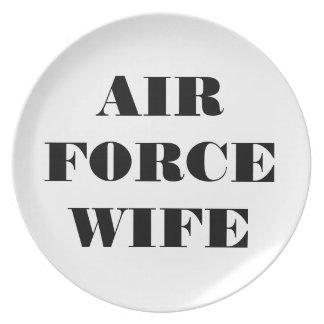 Épouse fière de l'Armée de l'Air de plat Assiette Pour Soirée