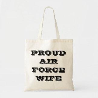 Épouse fière de l'Armée de l'Air de sac à main