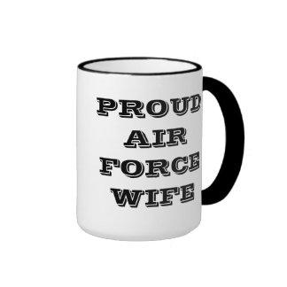 Épouse fière de l'Armée de l'Air de tasse