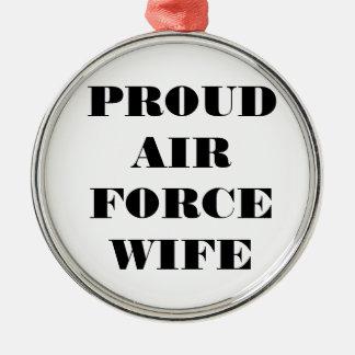 Épouse fière de l'Armée de l'Air d'ornement
