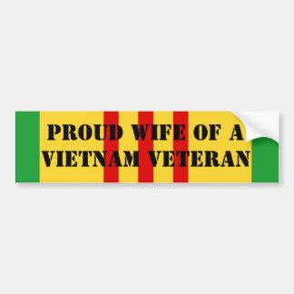 Épouse fière d'un vétéran du Vietnam Autocollant De Voiture
