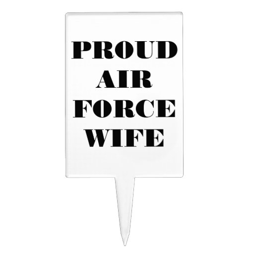Épouse fière épatante de l'Armée de l'Air de gâtea Piques À Gâteaux