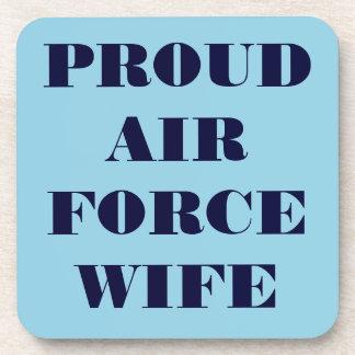 Épouse fière réglée de l Armée de l Air de caboteu Dessous-de-verre