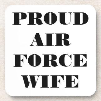 Épouse fière réglée de l'Armée de l'Air de caboteu Dessous-de-verre