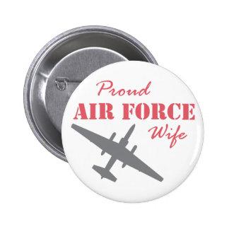 Épouse fière U-2 de l Armée de l Air Badges Avec Agrafe