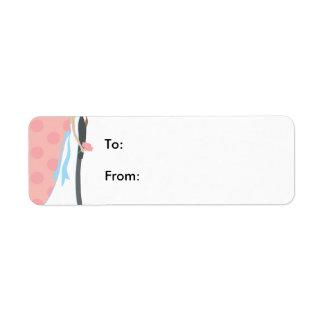 Épouser 1 étiquette d'adresse retour