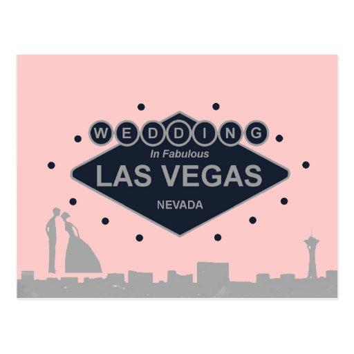 Épouser à Las Vegas avec la jeune mariée et le mar Cartes Postales