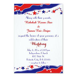 Épouser de bannière étoilée carton d'invitation 8,89 cm x 12,70 cm