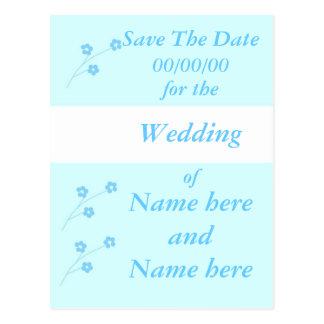 Épouser de fleur de turquoise stationnaire, font cartes postales