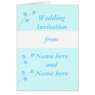 Épouser de Flo de turquoise stationnaire, Carte De Vœux