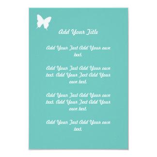 Épouser de papillon de turquoise stationnaire carton d'invitation 8,89 cm x 12,70 cm