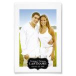 Épouser - frontière 4 x 6 noire et blanche tirage photo