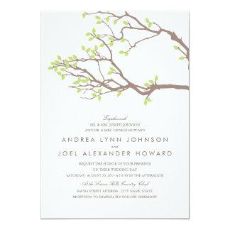 Épouser heureux de branches carton d'invitation  12,7 cm x 17,78 cm