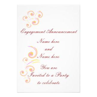 Épouser l ensemble léger stationnaire de boucle invitations personnalisées