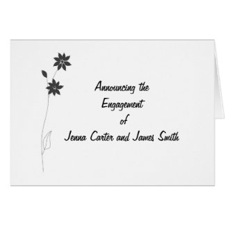 Épouser la gamme stationnaire, personnaliser carte de vœux