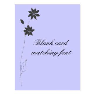 Épouser la gamme stationnaire, personnaliser carte postale
