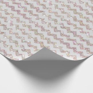 Épouser le blanc opale Chevron d'impression de Papiers Cadeaux Noël