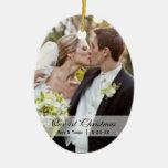 Épouser le premier ornement de photo de Noël de  