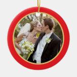 Épouser le premier ornement de photo de Noël de |