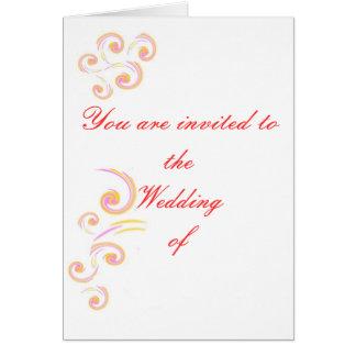 Épouser l'ensemble léger stationnaire de boucle carte de vœux