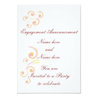 Épouser l'ensemble léger stationnaire de boucle invitations personnalisées